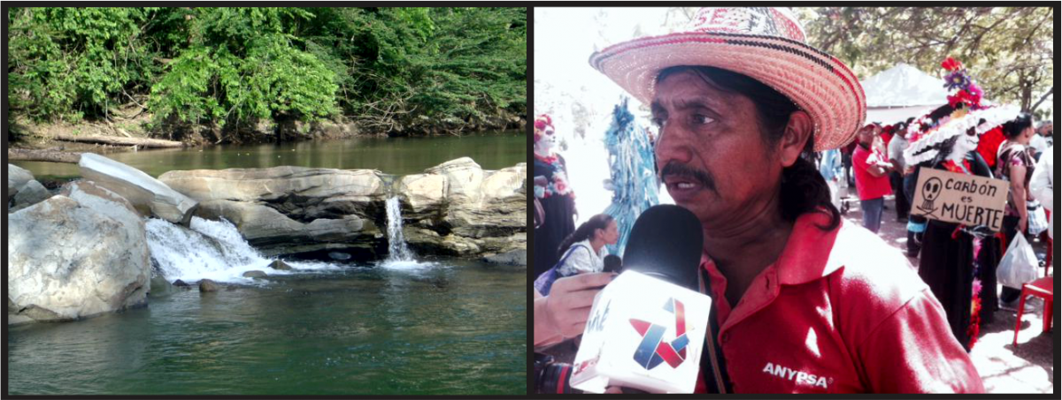 Ecologist Jorge Guerrero was one of the many activists to draw attention to the environmental disaster that would be caused by a coal plant on the Socuy river (pictured).