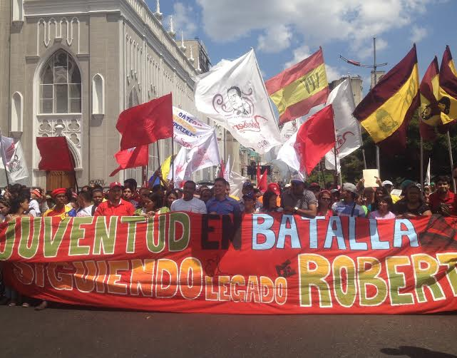 The march took place in Caracas' center, on October 1st, 2015. (Lucas Koerner)