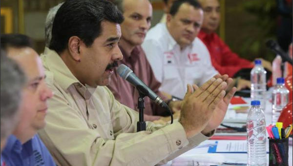 President Nicolas Maduro made his announcement from the Sidor steel plant in Venezuela's Bolivar state (VTV).