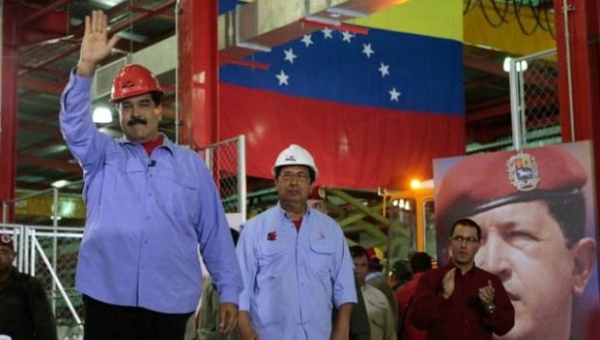 President Nicolas Maduro made a series of economic announcements while visiting an industrial site in the Venezuelan state of Barinas. (Prensa Presidencial)