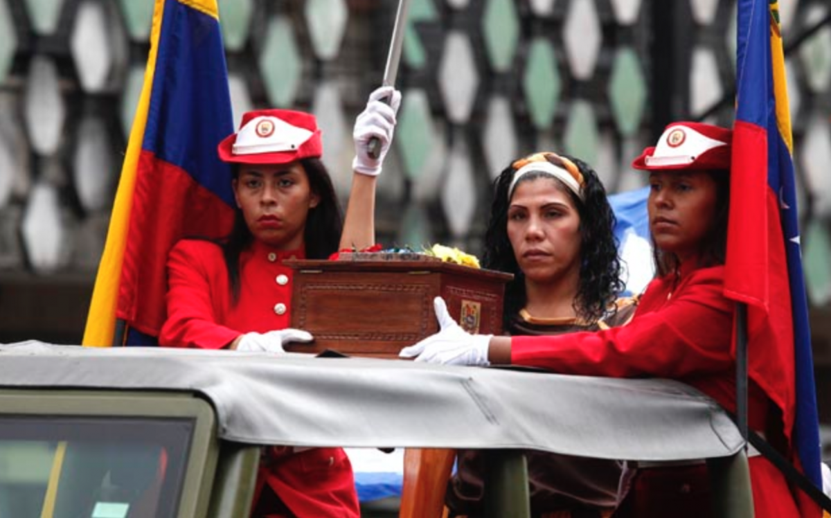 Juana's symbolic remains are transported to the Venezuelan pantheon of heroes (AVN)