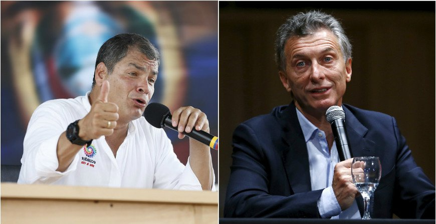Correa described Macri's statement's as an interference in Venezuelan internal affairs (Presidencia Ecuador and Reuters)