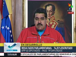 President Nicolas Maduro accepted the election results immediately on Sunday, December 6th. (TeleSUR)