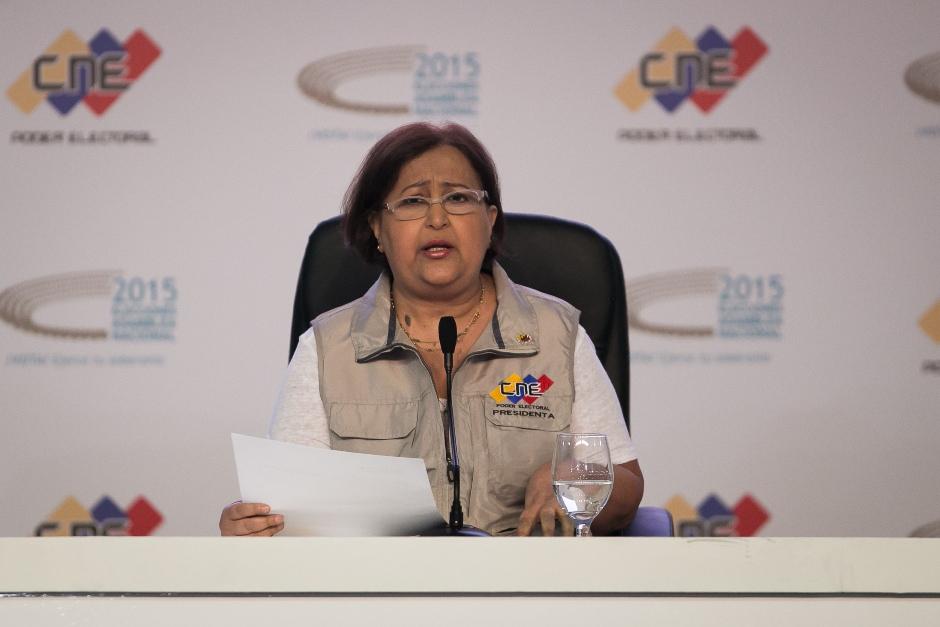 President of the CNE, Tibisay Lucena (EFE/Fabiola Ferrero)
