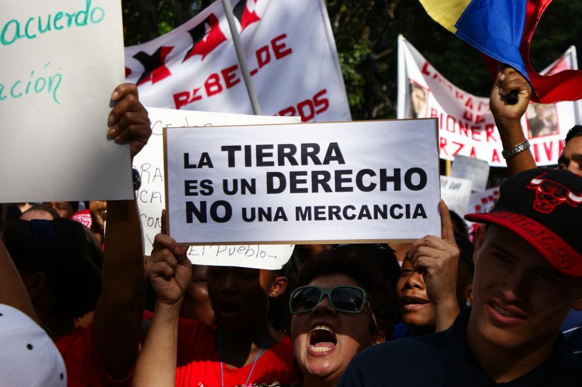 """""""Land is a right, not merchandise"""" (Jonas Holldack - Venezuelanalysis.com)"""