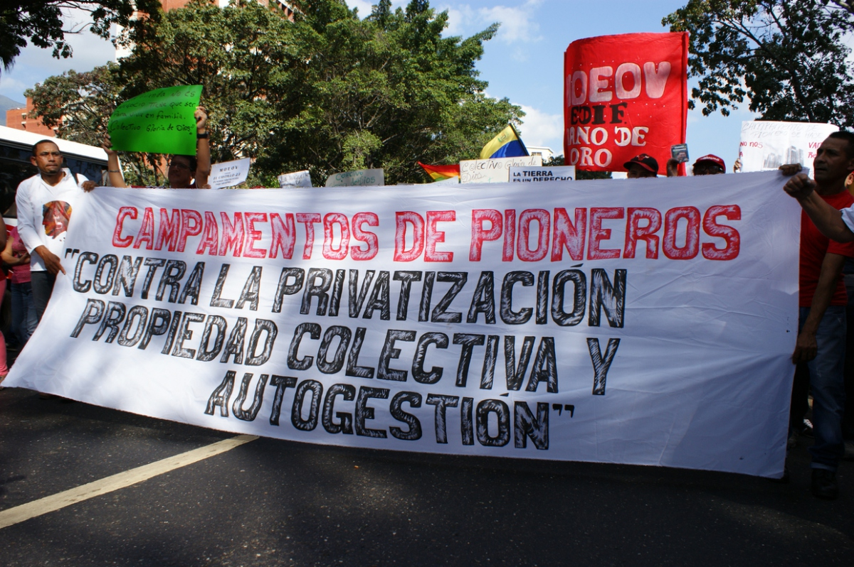 """Pioneers Camp: Against privatisation, for collective, self-managed property"" (Jonas Holldack - Venezuelanalysis)"