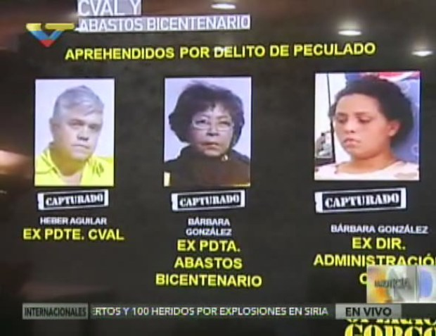 The three officials are currently being held in the Venezuelan intelligence services (SEBIN) headquarters in Caracas (VTV).
