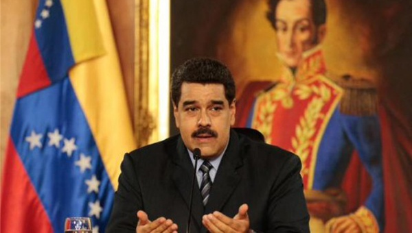 Venezuelan President Nicolas Maduro addressing the nation. (@PresidencialVen)