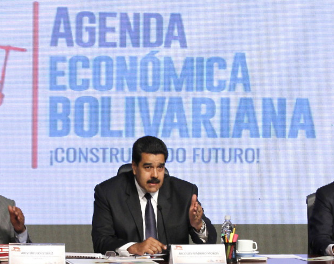 Maduro announces the deal with Gold Reserve. (Albaciudad)