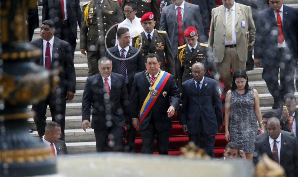 Hugo Chavez's former bodyguard, Leamsy Villafaña Salazar (circled-Strategic Culture)