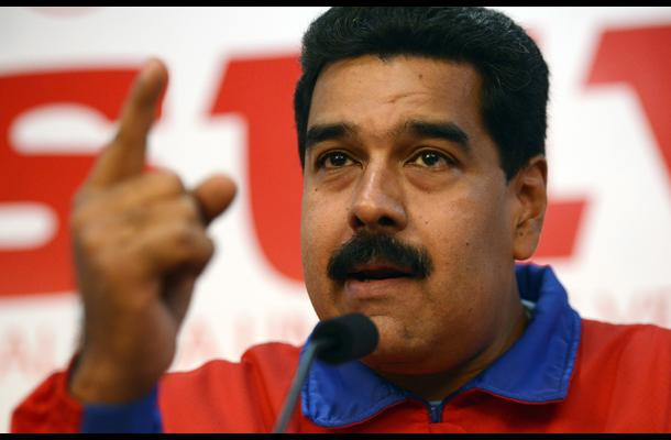 President Maduro blasted the motion by the National Assembly to censor Food Minister Rodolfo Marco Torres. (AFP)