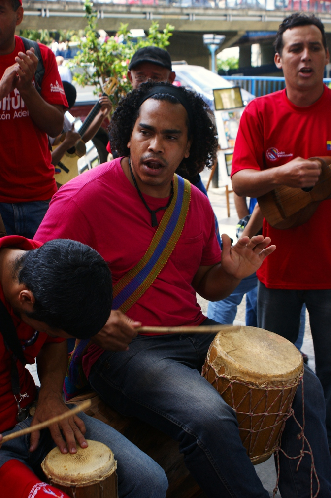 Cultural events were held across the city in honour of the two artists, including music and poetry readings. (Jonas Holldack/Venezuelanalysis)