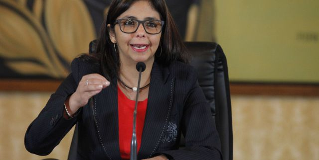 """Venezuela's Foreign Minister Delcy Rodriguez has accused Almagro of trying to use his position to """"to twist the arms"""" of other countries in the region. (Photo: AVN)"""