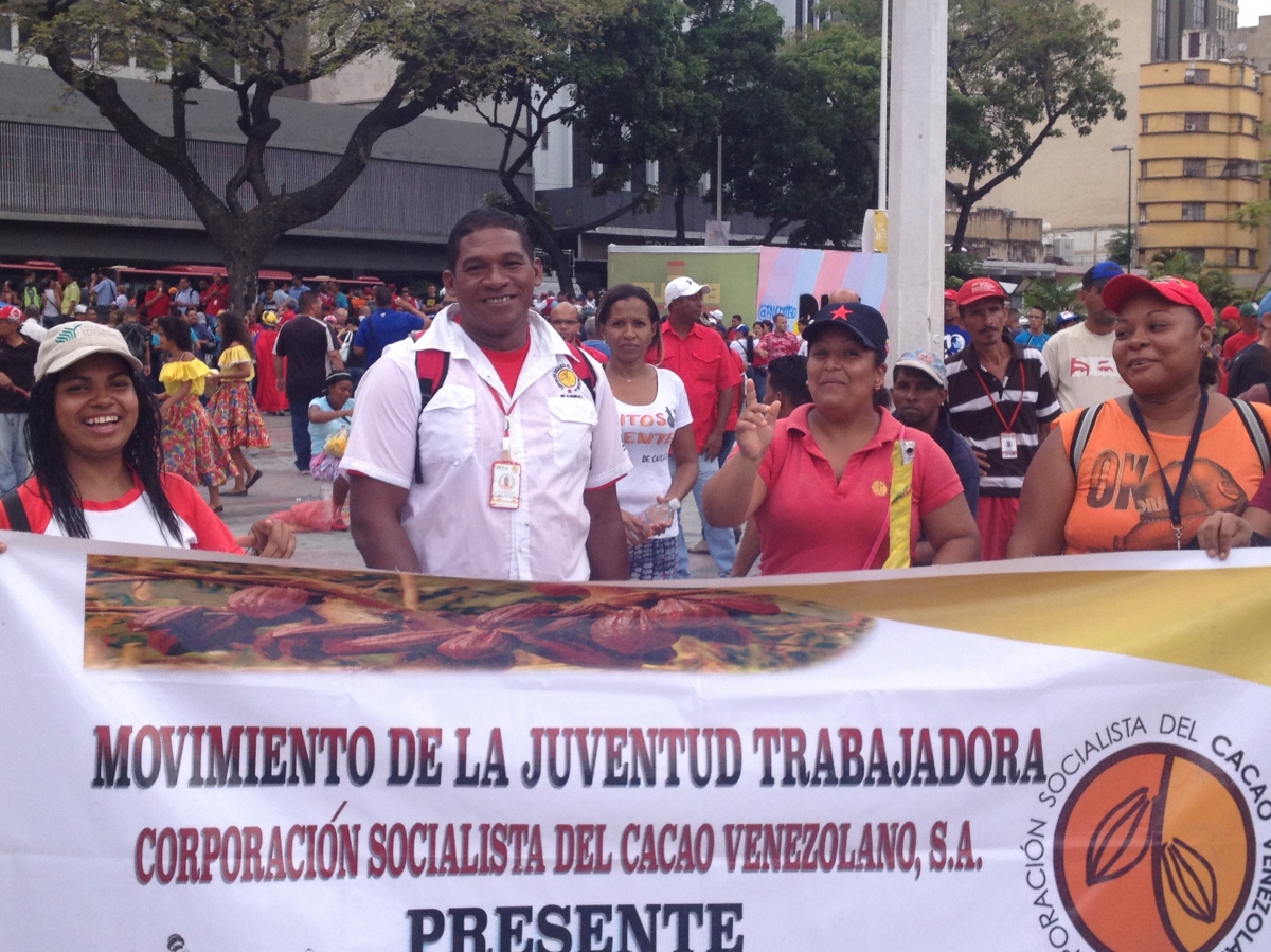 """""""Movement of Working Youth Socialist Corporation of Venezuelan Cacao Present"""". Much of Venezuela's Cacao production is concentrated in the heavily Afro-Venezuelan region of Barlovento in Miranda state. (Lucas Koerner/Venezuelanalysis)"""