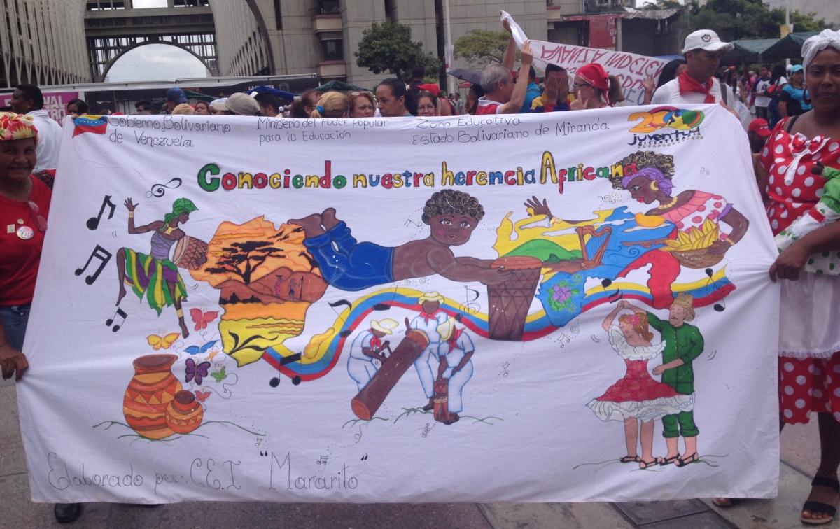 """Getting to know our African heritage"". (Lucas Koerner/Venezuelanalysis)"