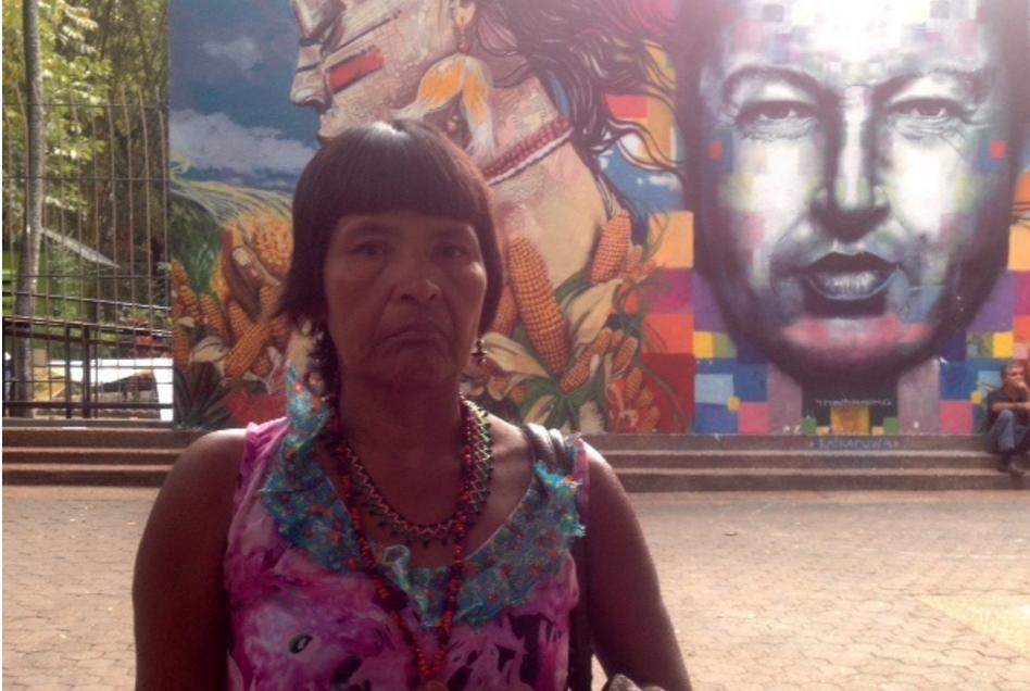 Lucía Martínez, wife of murdered Yukpa chief, Sabino Romero (Archive).