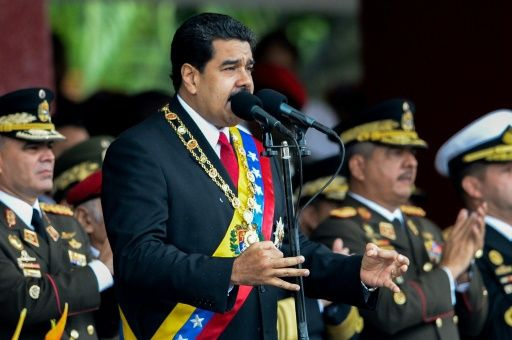 President Maduro at a military parade in commemoration of Venezuelan Independence Day. (AFP   Federico Parra)