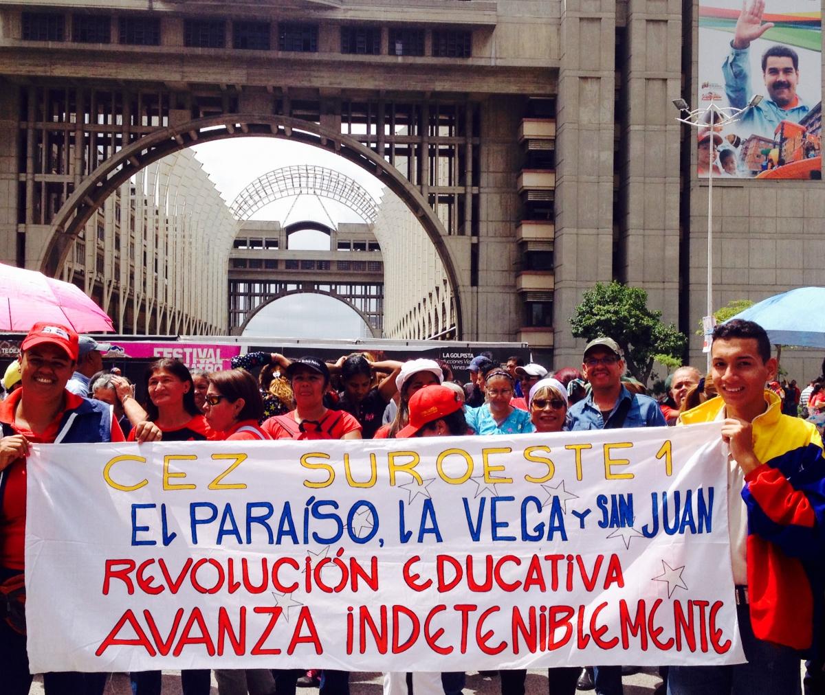 """The educational revolution advances unstoppably"". (Lucas Koerner/Venezuelanalysis)"