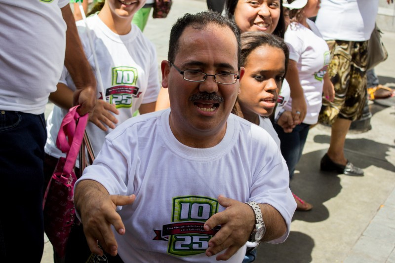 Ricardo Guerrero of Big Little World at a an event commemorating International Day for People with Dwarfism in Venezuela. (Kevin Zambrano Photos)