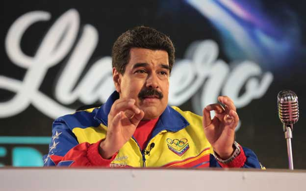 Venezuelan President Nicolas Maduro speaking on his weekly television program on Tuesday. (AVN)