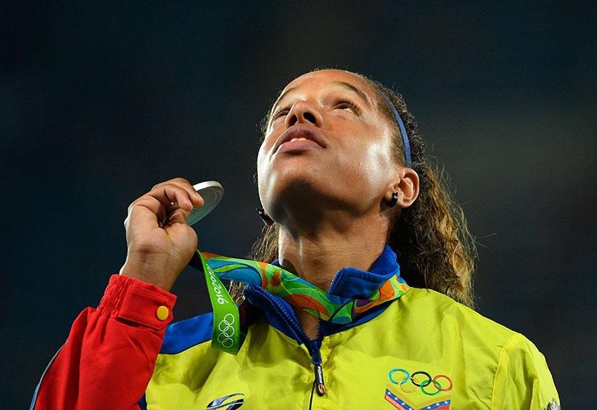 Yulimar Rojas is Venezuela's first female Olympic silver medal winner (AFP).