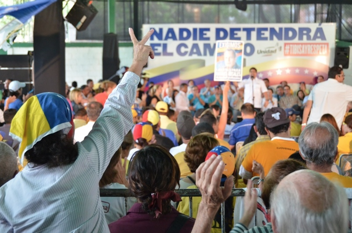A Venezuelan opposition rally in favour of the recall referendum (archives)