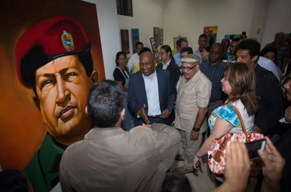 "An exhibition entitled ""Chavez and Fidel"" was also inaugurated in the Capital District government gallery to mark the occasion. (Venezuelan Vice-presidency)"