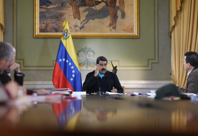 President Nicolas Maduro speaking at Miraflores Palace on Thursday. (VTV)