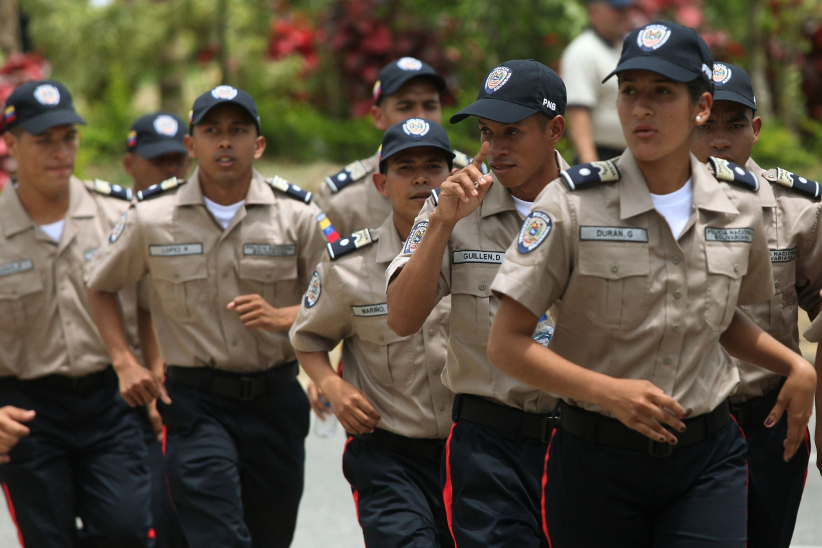 National Bolivarian Police officers (MinCi).