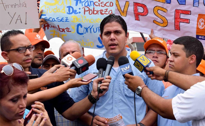 Lestor Toledo, opposition leader with the Popular Will (VP) party in Zulia state (RunRun).