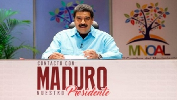 Venezuela Nicolas Maduro presents updates on the Non-Aligned Movement summit during his weekly television show (teleSUR).