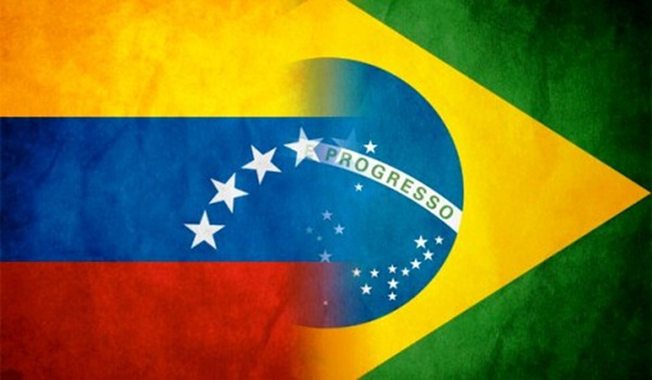 The Venezuelan and Brazilian flags are featured in this image (Nodal).