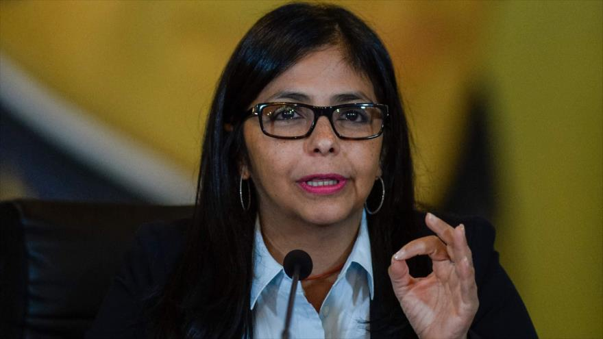 Venezuelan Foreign Minister Delcy Rodriguez speaking during a press conference in Caracas on September 20, 2016. (Archive)
