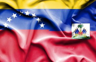 Haitian and Venezuelan flags (Fotolia).
