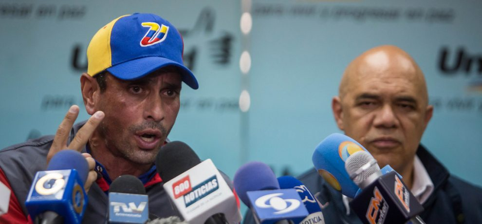 Miranda governor and leading MUD figure Henrique Capriles has called renewed protests over the weekend, and next week. (Ultimas Noticias)