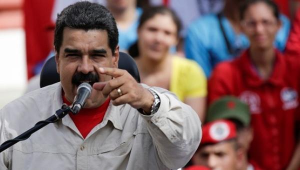 Venezuela's President Nicolas Maduro speaks during a rally in Caracas, Venezuela, Oct. 1, 2016 (Reuters)