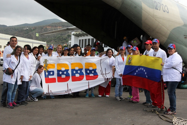 The Venezuelan government sent a medical brigade to Haiti this week in the wake of Hurricane Matthew's devastation (Mppijp/Joshsua Hernández).