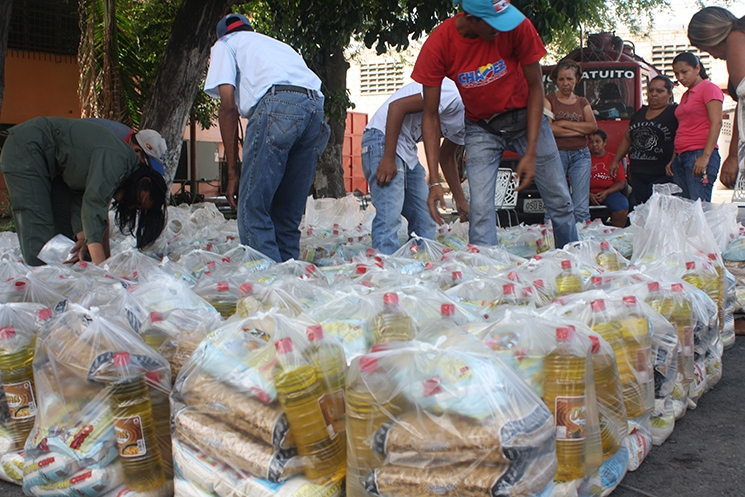 Cap: CLAPs distribute food directly to communities. (Archive)