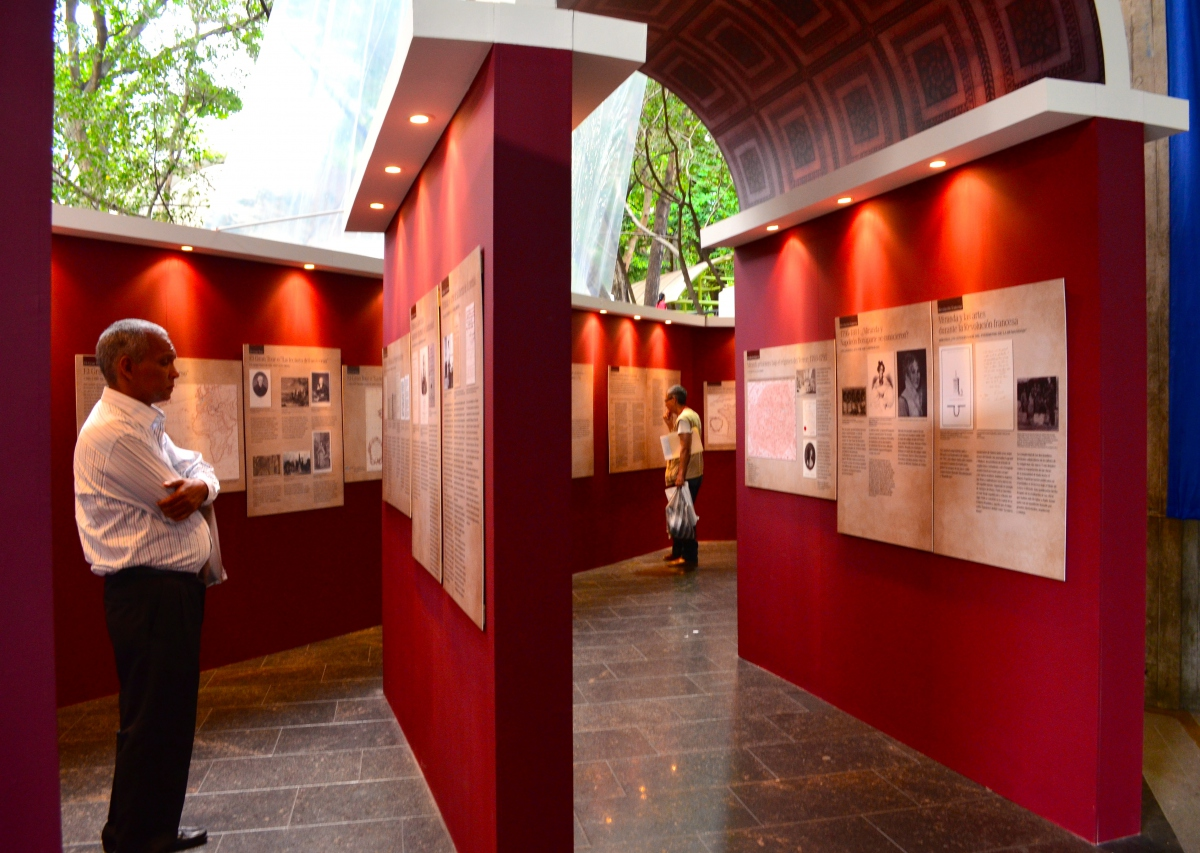 An exhibition on the life and thought of Venezuelan independence leader Francisco de Miranda. (Rachael Boothroyd Rojas/Venezuelanalysis.com)