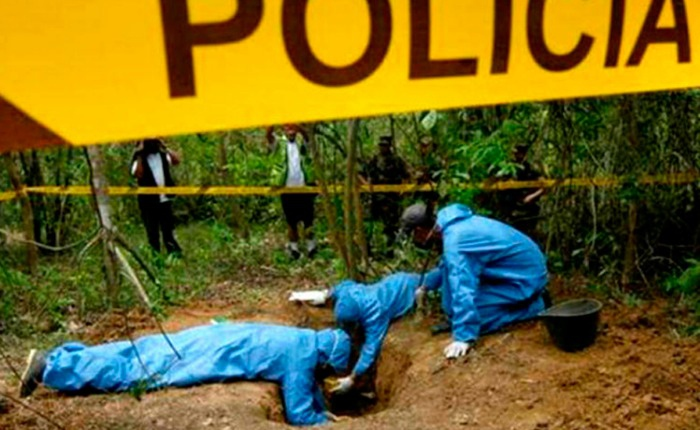 Twelve bodies were found in mass graves in Miranda state on Friday. (Archive)