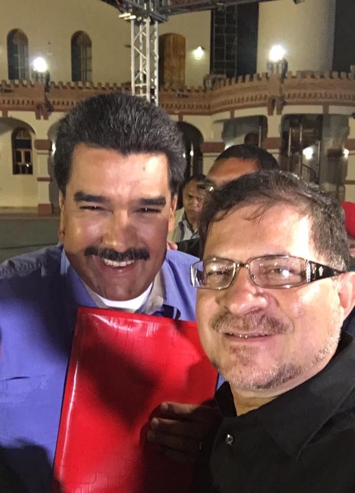 Ricardo Moreno with President Nicolas Maduro (Ricardo Moreno via Facebook)