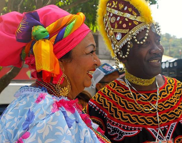 The Carnival of El Callao is held across Venezuela from January to March. (Prensa MPPC/Orlando Herrera)
