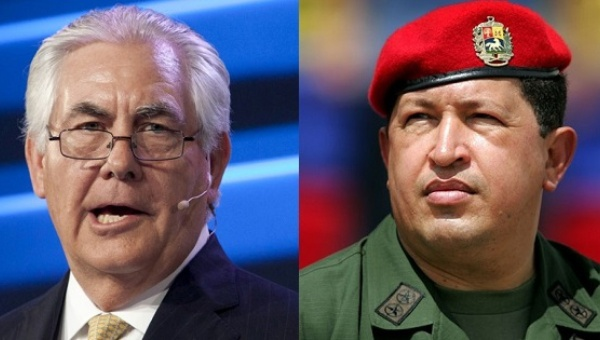 Rex Tillerson's ExxonMobil was one of the holdouts when Hugo Chavez re-nationalized Venezuela's oil resources (Reuters).
