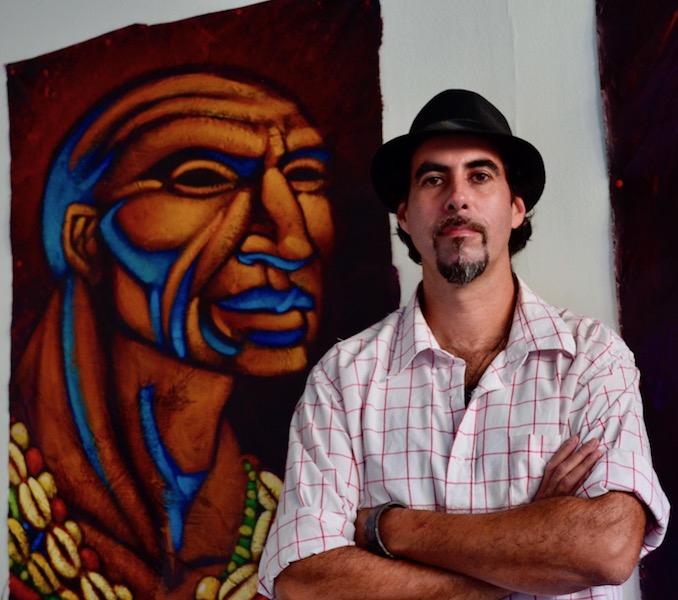 "Artist and muralist Pablo ""Kalaka"" (Rachael Boothroyd Rojas/Venezuelanalysis.com)."