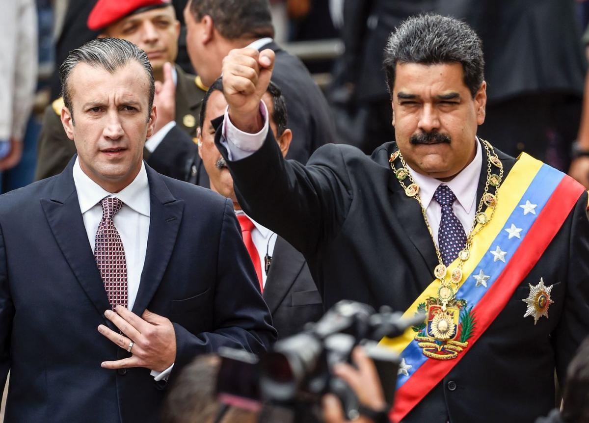 Venezuelan President Nicolas Maduro (R) and Vice-President Tarek El Aissami. (Juan Barreto/AFP via Getty Images)