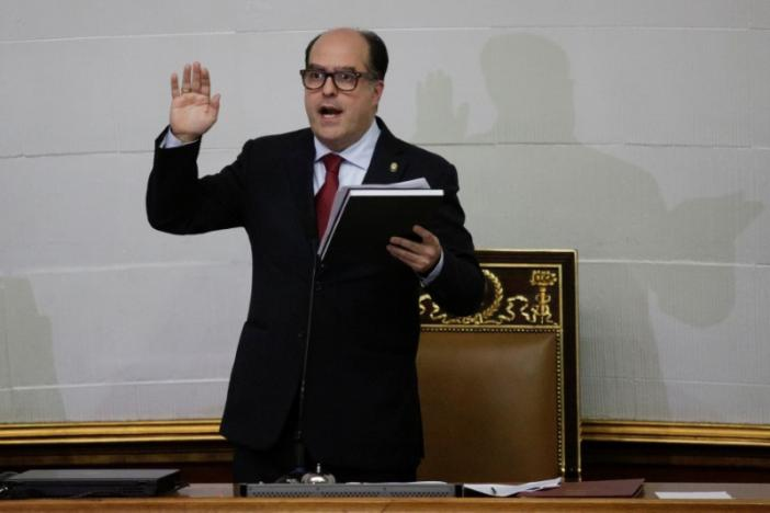 The Venezuelan government says it will challenge Borges' swearing in at the Supreme Court. (Reuters/Marco Bello)