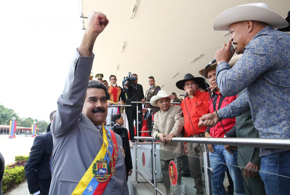 President Nicolas Maduro honors the legacy of Zamora. (RNV)