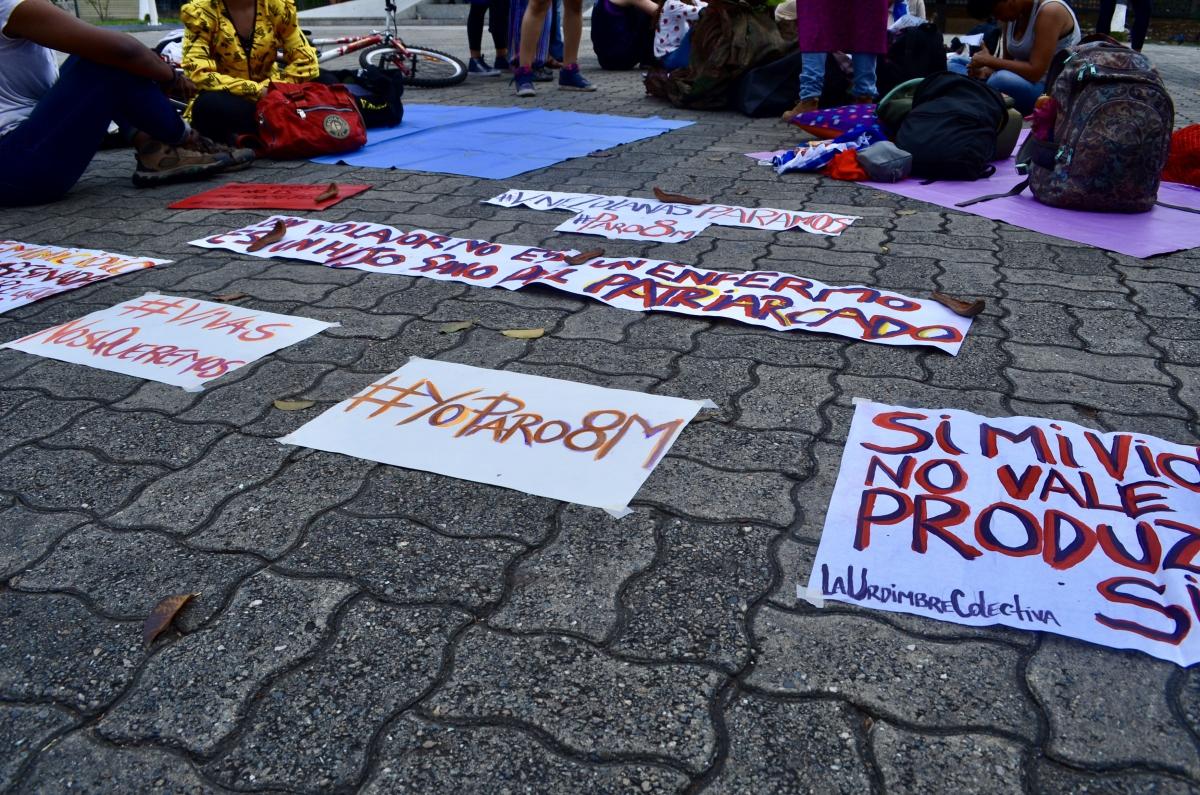 """I'm striking on March 8th"". (Rachael Boothroyd Rojas/Venezuelanalysis)"