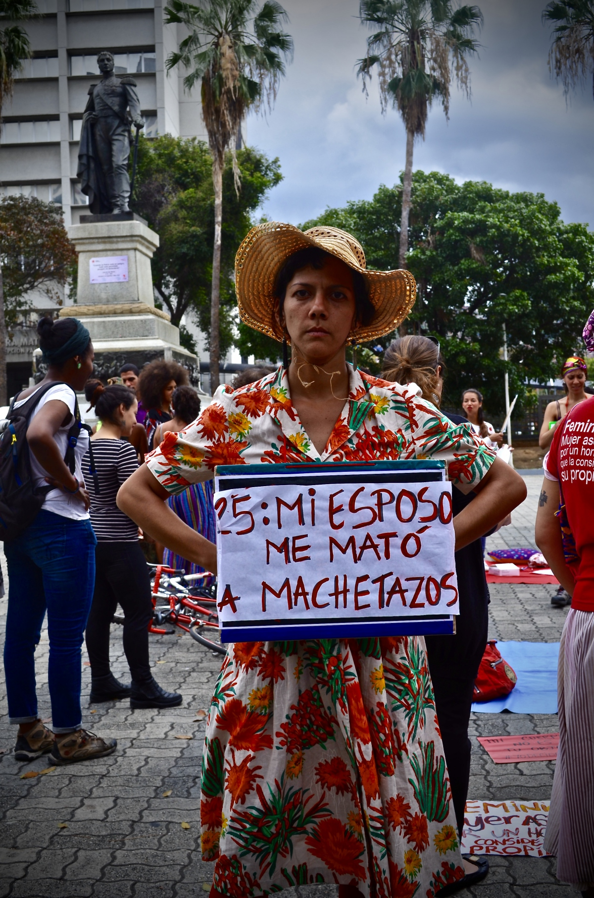 """My husband cut me to pieces with a machete"". (Rachael Boothroyd Rojas/Venezuelanalysis)"
