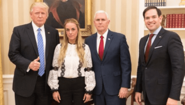 U.S. President Donald Trump has met with Lilian Tintori, an outspoken opponent of Nicolas Maduro. (Twitter / Donald Trump)